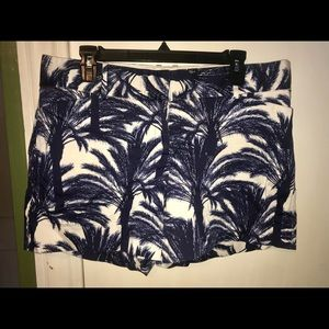 The Limited Palm Tree Shorts